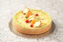 Άσπρο Cheesecake σοκολάτας στοκ φωτογραφία με δικαίωμα ελεύθερης χρήσης
