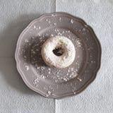 Άσπρο Doughnut Στοκ Εικόνες