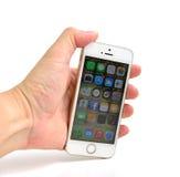 Άσπρο iPhone της Apple 5S Στοκ Εικόνα