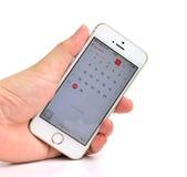 Άσπρο iPhone της Apple 5S Στοκ φωτογραφία με δικαίωμα ελεύθερης χρήσης