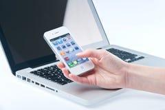 Άσπρο iphone 4 4s Στοκ Εικόνες