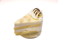 Άσπρο Macadamia σοκολάτας κέικ Στοκ εικόνες με δικαίωμα ελεύθερης χρήσης