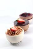 Άσπρο mousse σοκολάτας και σοκολάτας γάλακτος Στοκ Φωτογραφία