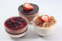 Άσπρο mousse σοκολάτας και σοκολάτας γάλακτος Στοκ φωτογραφία με δικαίωμα ελεύθερης χρήσης