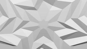 Άσπρο polygonal γεωμετρικό υπόβαθρο επιφάνειας τρισδιάστατη απόδοση διανυσματική απεικόνιση