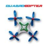 Άσπρο quadrocopter διανυσματική απεικόνιση
