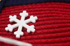 Άσπρο snowflake παιχνίδι Στοκ εικόνα με δικαίωμα ελεύθερης χρήσης