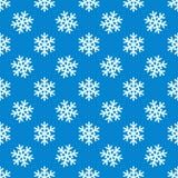 Άσπρο snowflakes διανυσματικό άνευ ραφής σχέδιο απεικόνιση αποθεμάτων