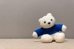 Άσπρο Teddy αντέχει Στοκ Εικόνα