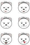 Άσπρο Teddy αντέχει emoticons Στοκ Εικόνες