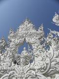 """The άσπρο Temple† σε Chiang Ria, Ταϊλάνδη Στοκ Εικόνες"