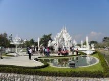 """The άσπρο Temple† σε Chiang Ria, Ταϊλάνδη Στοκ εικόνα με δικαίωμα ελεύθερης χρήσης"