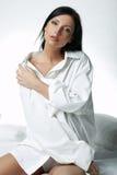 άσπρο xxl πουκάμισων Στοκ Εικόνα
