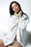 άσπρο xxl πουκάμισων Στοκ Φωτογραφίες