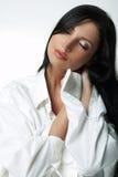 άσπρο xxl πουκάμισων Στοκ φωτογραφία με δικαίωμα ελεύθερης χρήσης