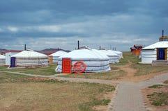 άσπρο yurt Στοκ φωτογραφία με δικαίωμα ελεύθερης χρήσης