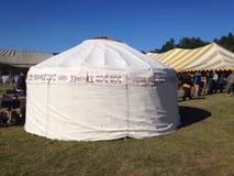 άσπρο yurt Στοκ εικόνα με δικαίωμα ελεύθερης χρήσης