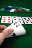 Άσσοι πόκερ στοκ εικόνες