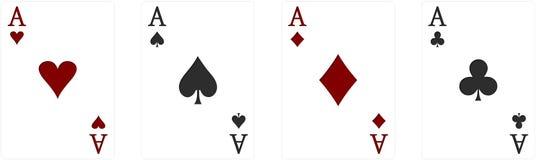Άσσος πόκερ Στοκ φωτογραφία με δικαίωμα ελεύθερης χρήσης