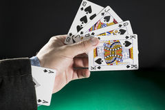 Άσσος στην τρύπα, την έννοια πόκερ για την επιχειρησιακή επιτυχία και τον ανταγωνισμό Στοκ Εικόνες