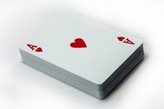 Άσσος της κάρτας καρδιών Στοκ εικόνες με δικαίωμα ελεύθερης χρήσης