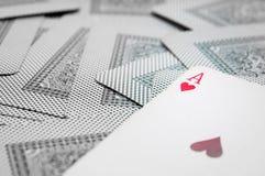 Άσσος των καρδιών Στοκ φωτογραφία με δικαίωμα ελεύθερης χρήσης