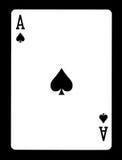 Άσσος των φτυαριών που παίζουν την κάρτα, Στοκ φωτογραφίες με δικαίωμα ελεύθερης χρήσης