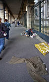 άστεγες λυπημένες οδοί της Πράγας εικόνων ατόμων Στοκ Φωτογραφίες