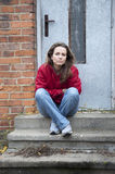 άστεγη γυναίκα Στοκ εικόνα με δικαίωμα ελεύθερης χρήσης
