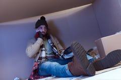 Άστεγοι άτομο Στοκ φωτογραφίες με δικαίωμα ελεύθερης χρήσης