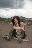 άστεγοι κοριτσιών Στοκ φωτογραφία με δικαίωμα ελεύθερης χρήσης