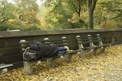 Άστεγοι στην πόλη της Νέας Υόρκης Στοκ Φωτογραφία