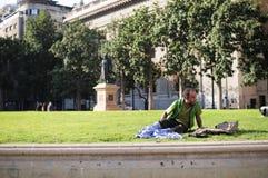 Άστεγοι στο Σαντιάγο Στοκ εικόνες με δικαίωμα ελεύθερης χρήσης