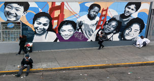 Άστεγοι στο Σαν Φρανσίσκο Καλιφόρνια Στοκ Εικόνες