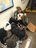 Άστεγοι της Νέας Υόρκης Στοκ φωτογραφία με δικαίωμα ελεύθερης χρήσης