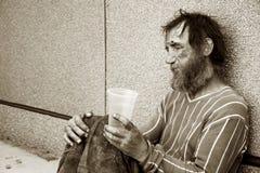 άστεγο άτομο κατάθλιψης Στοκ φωτογραφίες με δικαίωμα ελεύθερης χρήσης