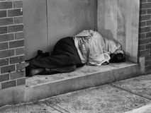 άστεγο άτομο Στοκ φωτογραφία με δικαίωμα ελεύθερης χρήσης