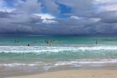 Άσχημος καιρός στην ακτή, Κούβα, Varadero Στοκ εικόνες με δικαίωμα ελεύθερης χρήσης
