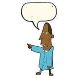 άσχημο άτομο κινούμενων σχεδίων που δείχνει με τη λεκτική φυσαλίδα Στοκ εικόνα με δικαίωμα ελεύθερης χρήσης
