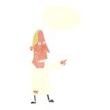 άσχημο άτομο κινούμενων σχεδίων που δείχνει με τη λεκτική φυσαλίδα Στοκ φωτογραφία με δικαίωμα ελεύθερης χρήσης