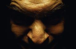Άσχημο αρσενικό πρόσωπο Στοκ φωτογραφία με δικαίωμα ελεύθερης χρήσης