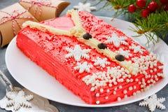 Άσχημο κέικ πουλόβερ Χριστουγέννων, συνταγή για το κόμμα χειμερινών διακοπών, Στοκ φωτογραφία με δικαίωμα ελεύθερης χρήσης