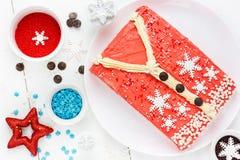 Άσχημο κέικ πουλόβερ Χριστουγέννων, συνταγή για το κόμμα χειμερινών διακοπών, Στοκ Εικόνα