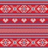 Άσχημο πουλόβερ διανυσματικό υπόβαθρο ύφους γιορτής Χριστουγέννων επίπεδο Στοκ Φωτογραφίες