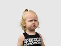 Άτακτος ο ξανθός μικρών κοριτσιών στοκ φωτογραφία με δικαίωμα ελεύθερης χρήσης