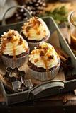 Άτομα μελοψωμάτων cupcakes με την καραμέλα Στοκ φωτογραφία με δικαίωμα ελεύθερης χρήσης