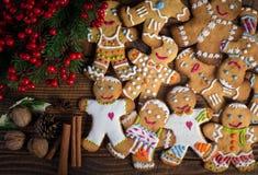 Άτομα μελοψωμάτων Χριστουγέννων Στοκ φωτογραφίες με δικαίωμα ελεύθερης χρήσης