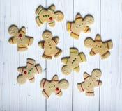 Άτομα μπισκότων μελοψωμάτων Στοκ φωτογραφίες με δικαίωμα ελεύθερης χρήσης