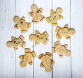 Άτομα μπισκότων μελοψωμάτων Στοκ Εικόνα