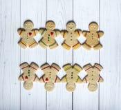Άτομα μπισκότων μελοψωμάτων Στοκ Εικόνες